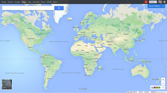 Risultati immagini per foto google maps mondo