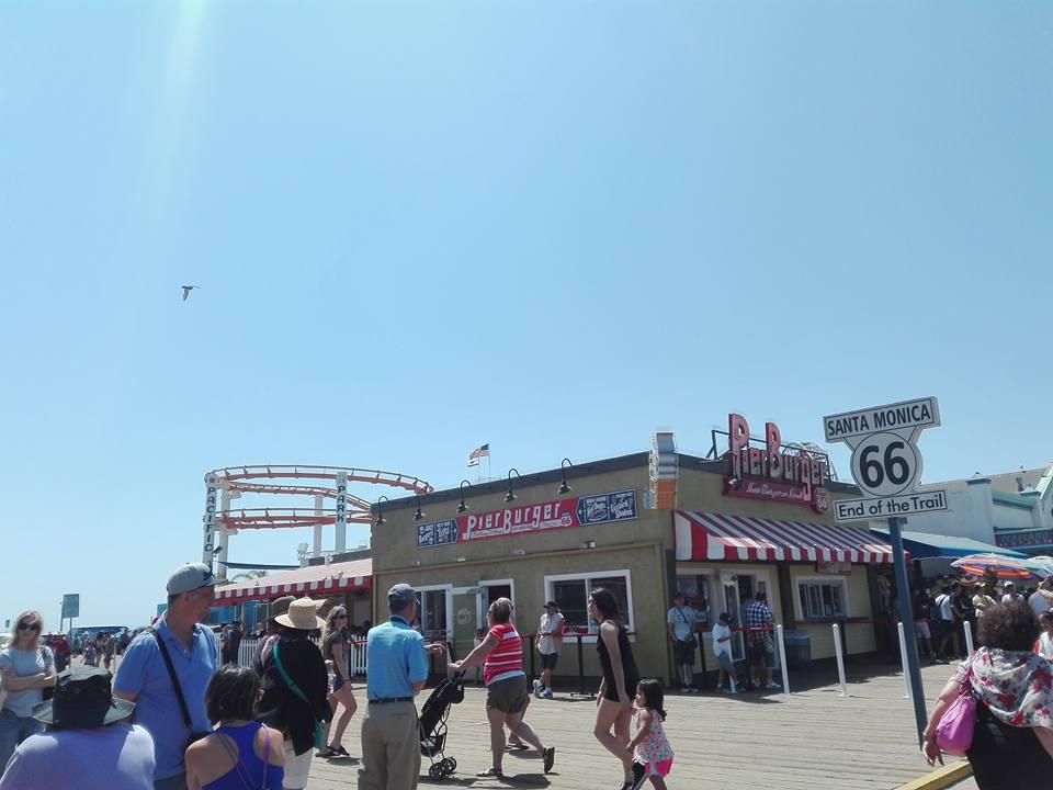pontile di Santa Monica Beach